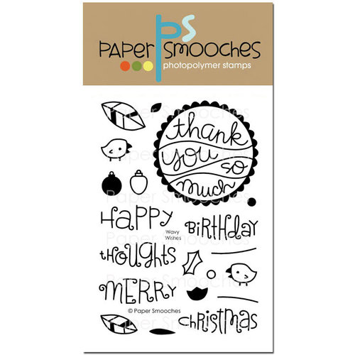 Paper Smooches - Clear Acrylic Stamps - Wavy Wishes
