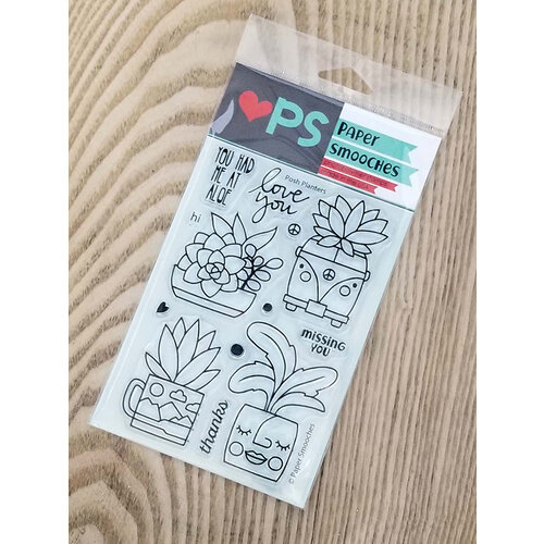Paper Smooches - Clear Photopolymer Stamps - Posh Planters