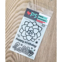 Paper Smooches - Clear Photopolymer Stamps - Sweet Succulent