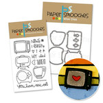 Paper Smooches - Die and Acrylic Stamp Set - Boob Tube - Vintage TV Bundle