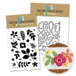 Paper Smooches - Die and Acrylic Stamp Set - Botanicals III Three Bundle