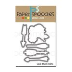 Paper Smooches - Dies - Love Struck Icons