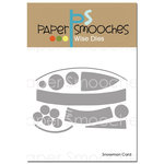 Paper Smooches - Dies - Snowman Card