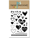 Paper Smooches - Clear Acrylic Stamps - Sweet Hearts