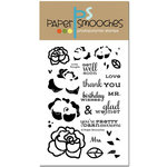 Paper Smooches - Clear Acrylic Stamps - Lovely Thoughts