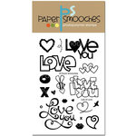Paper Smooches - Clear Acrylic Stamps - Lots of Love