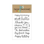 Paper Smooches - Clear Acrylic Stamps - Delightful Greetings