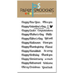 Paper Smooches - Clear Acrylic Stamps - All Year Cheer