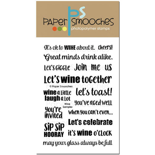 Paper Smooches - Clear Acrylic Stamps - Wine Sampler