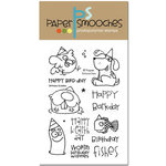 Paper Smooches - Clear Acrylic Stamps - Birthday Buddies
