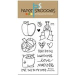 Paper Smooches - Clear Acrylic Stamps - Falling For You