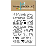 Paper Smooches - Clear Acrylic Stamps - Birthday Sampler