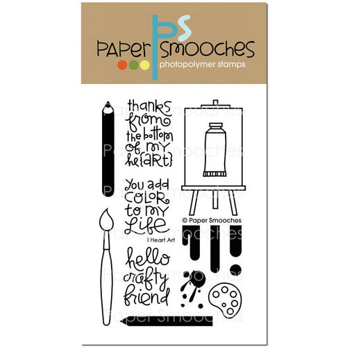 Paper Smooches - Clear Acrylic Stamps - I Heart Art