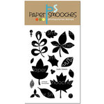 Paper Smooches - Clear Acrylic Stamps - Leafy Greens