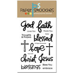 Paper Smooches - Clear Acrylic Stamps - Have Faith