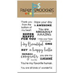 Paper Smooches - Clear Acrylic Stamps - Fun and Flirty