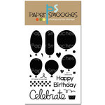 Paper Smooches - Clear Acrylic Stamps - Let's Celebrate
