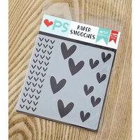 Paper Smooches - Stencils - Hearts