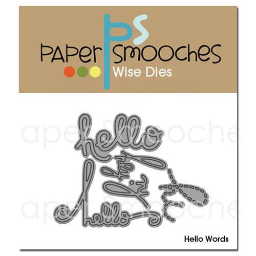 Paper Smooches Hello Words Dies