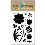 Paper Smooches - Clear Acrylic Stamps - Bold Blooms