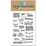 Paper Smooches - Clear Acrylic Stamps - Captured Moments