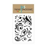 Paper Smooches - Clear Acrylic Stamps - Curls and Swirls