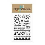 Paper Smooches - Clear Acrylic Stamps - Silver and Gold