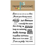 Paper Smooches - Clear Acrylic Stamps - Courteous Cuties 2