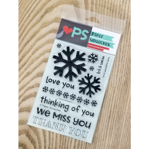 Paper Smooches - Clear Photopolymer Stamps - Snowy Salutations