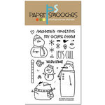 Paper Smooches - Christmas - Clear Acrylic Stamps - Swanky Snowdudes