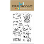 Paper Smooches - Clear Acrylic Stamps - Green Acres