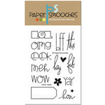 Paper Smooches - Clear Acrylic Stamps - Qwick Qwips