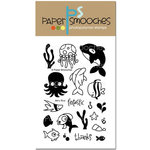 Paper Smooches - Clear Acrylic Stamps - Briny Blue