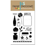 Paper Smooches - Clear Acrylic Stamps - Crystal Clear