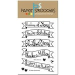 Paper Smooches - Clear Acrylic Stamps - Blissful Banners