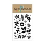 Paper Smooches - Clear Acrylic Stamps - Botanicals Three