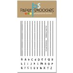 Paper Smooches - Clear Acrylic Stamps - Notebook Paper Two