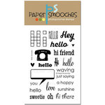 Paper Smooches - Clear Acrylic Stamps - Hello Sampler