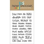 Paper Smooches - Clear Acrylic Stamps - Kinfolk