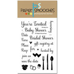 Paper Smooches - Clear Acrylic Stamps - Shindig Two