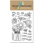 Paper Smooches - Clear Acrylic Stamps - Best Buds
