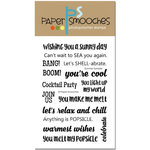 Paper Smooches - Clear Acrylic Stamps - Summer Sampler