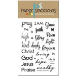 Paper Smooches - Clear Acrylic Stamps - Faith Sampler
