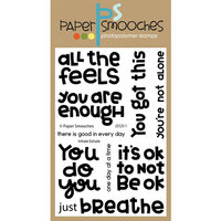 Paper Smooches - Clear Photopolymer Stamps - Inhale Exhale