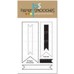 Paper Smooches - Clear Acrylic Stamps - Flag Tags