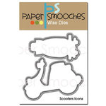 Paper Smooches - Dies - Scooter Icons