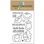 Paper Smooches - Clear Acrylic Stamps - Vegtastic