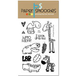 Paper Smooches - Clear Acrylic Stamps - Zoo Crew