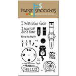 Paper Smooches - Clear Acrylic Stamps - Tick Tock