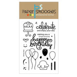 Paper Smooches - Clear Acrylic Stamps - Birthday Bash